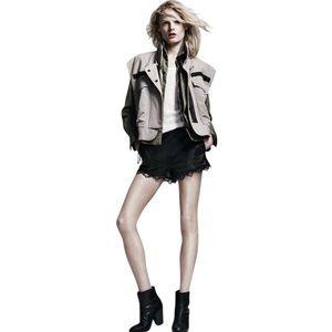 Rag & Bone runway khaki Dutch utility lace up vest